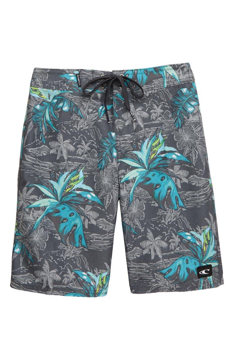 O'NEILL Zigee Print Board Shorts, Main, color, ASPHALT