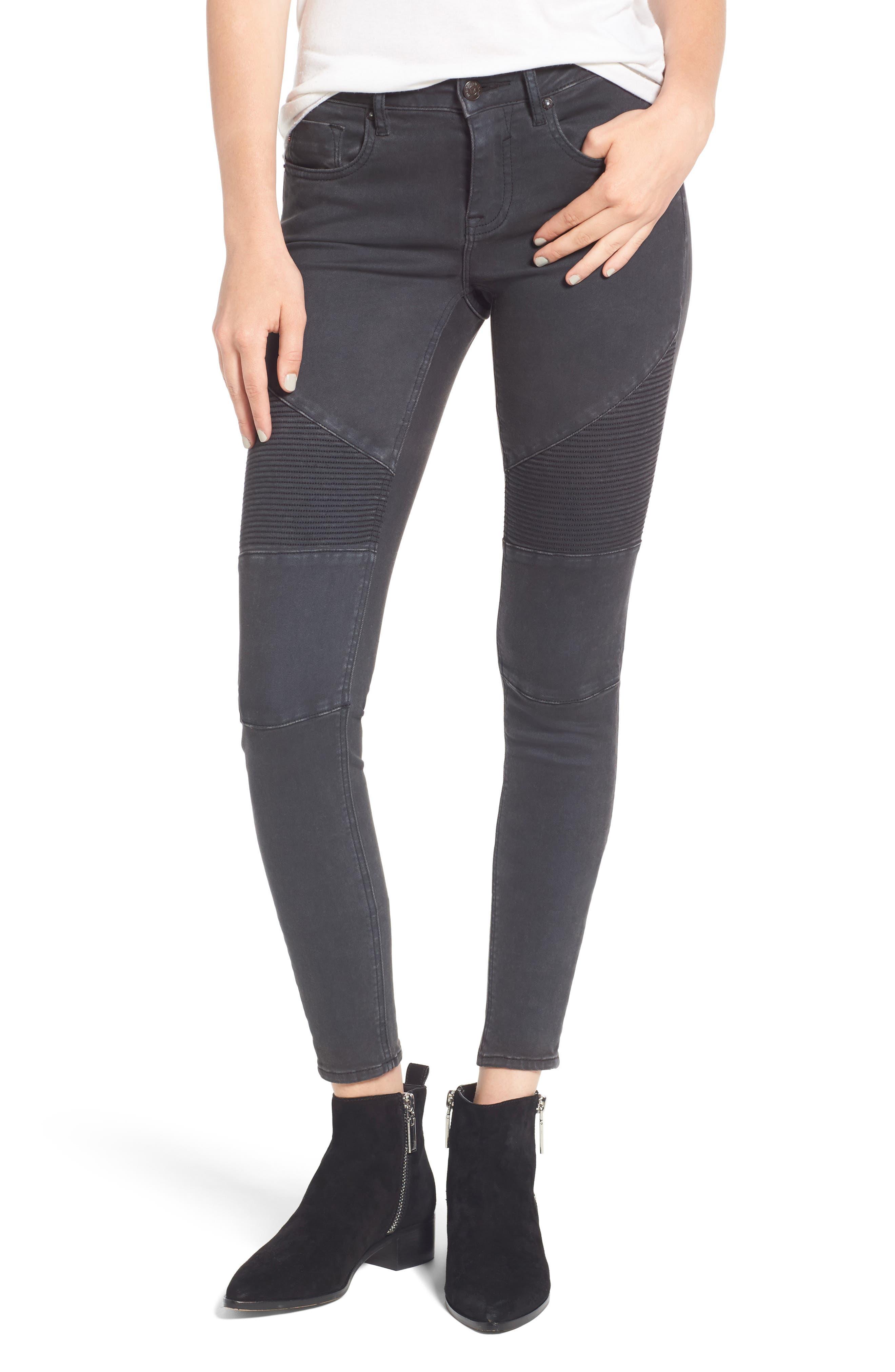 Moto Skinny Jeans, Main, color, 001