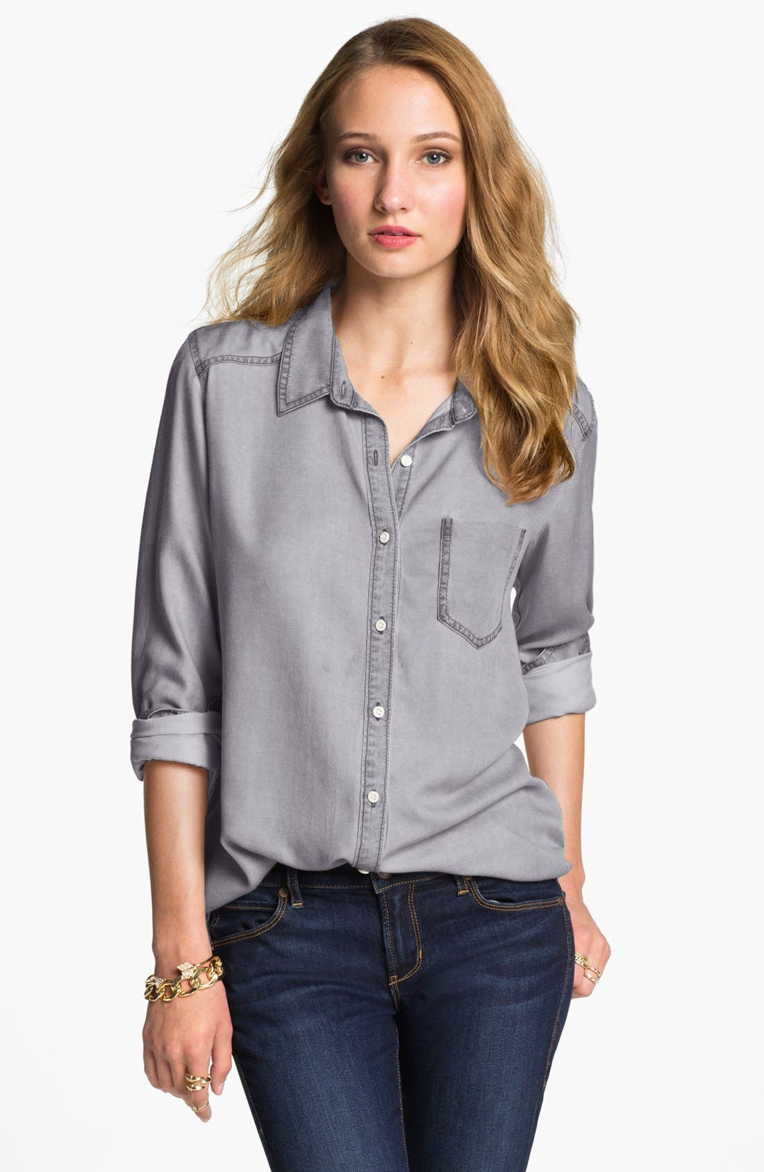 ,                             Rubbish Oversized Menswear Shirt,                             Main thumbnail 4, color,                             022