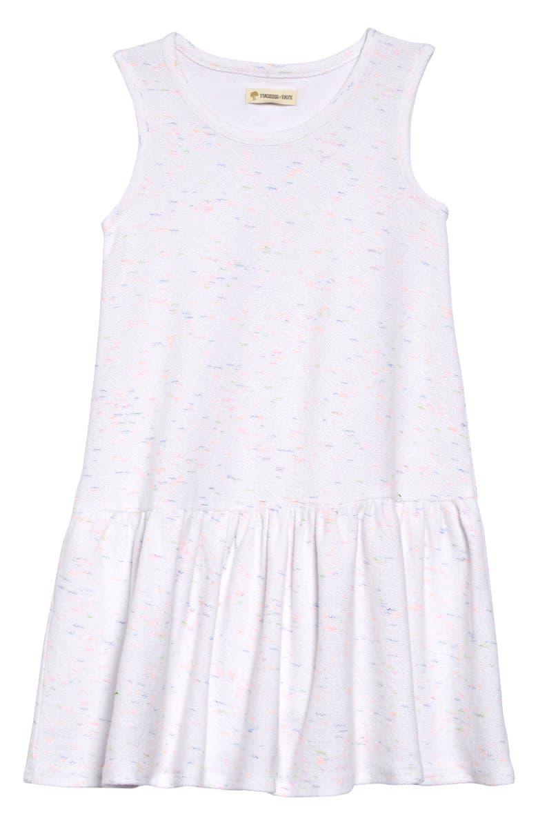 TUCKER + TATE Print Drop Waist Dress, Main, color, WHITE