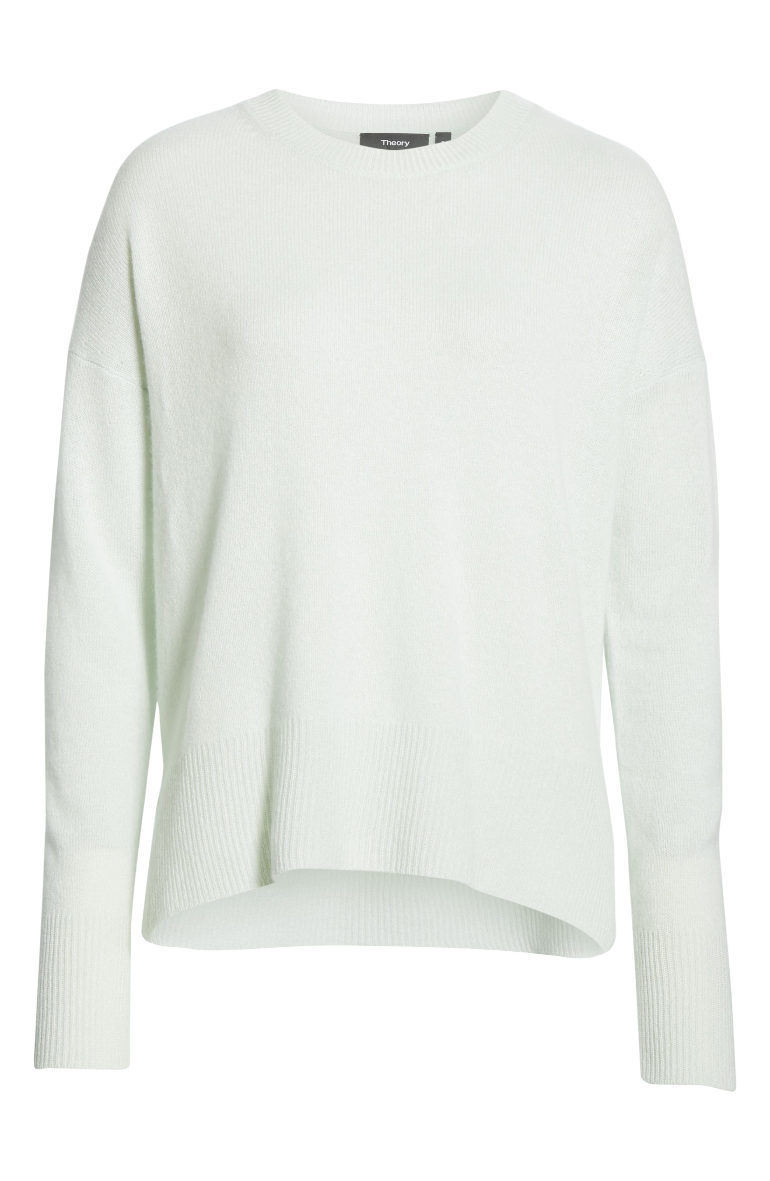 ,                             Karenia Long Sleeve Cashmere Sweater,                             Alternate thumbnail 6, color,                             OPAL GREEN