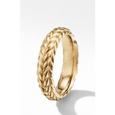 David Yurman Chevron 18K Gold Band Ring