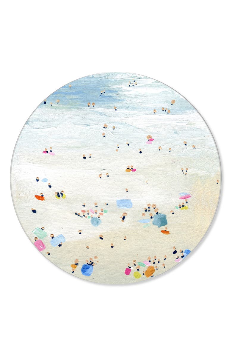 OLIVER GAL Tiny People Round Wall Art, Main, color, 400