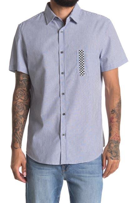 Image of Sovereign Code Kidd Zigzag Stripe Short Sleeve Regular Fit Shirt