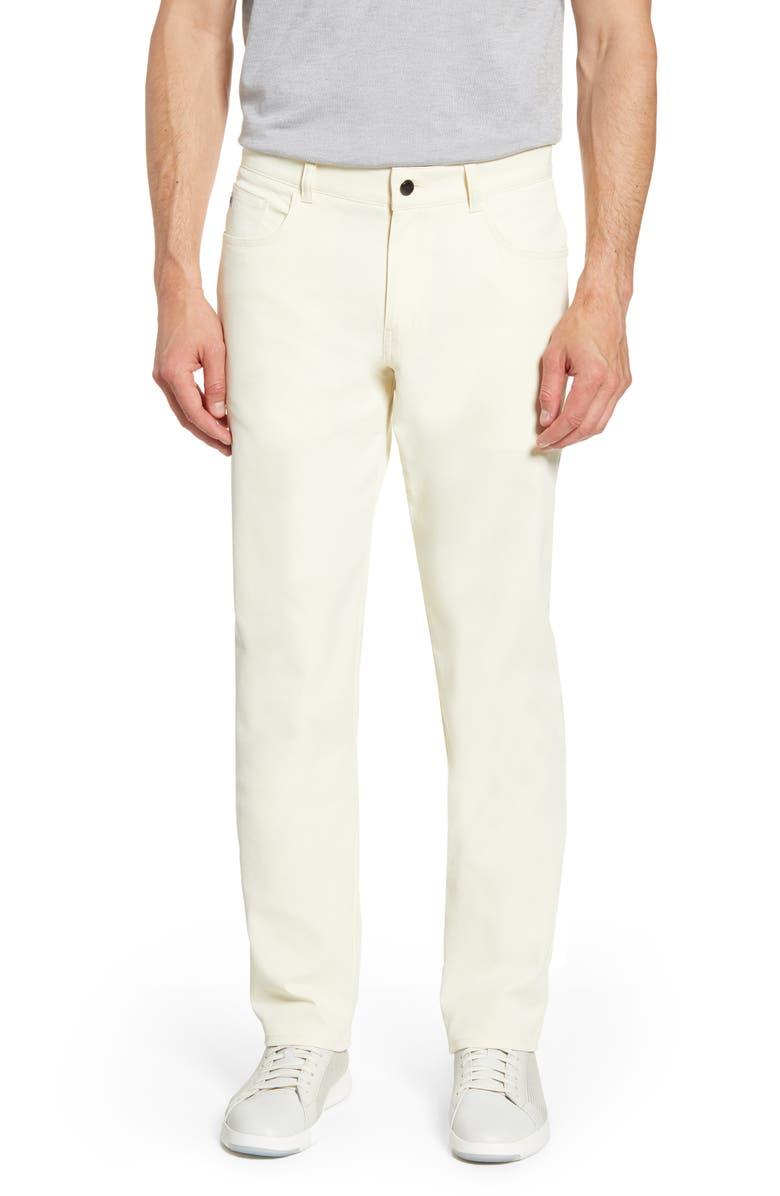 PETER MILLAR Five-Pocket Performance Pants, Main, color, CHAMOIS