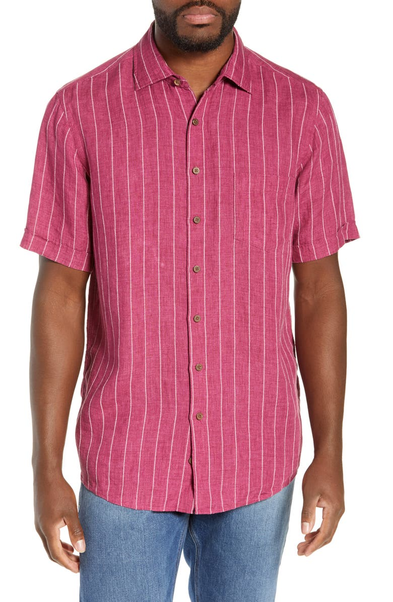 RODD & GUNN Quail Rise Regular Fit Shirt, Main, color, MAGENTA