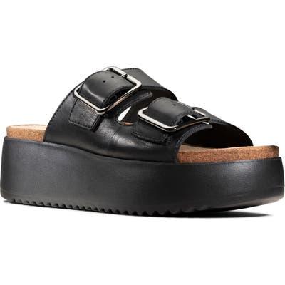 Clarks Botanic Slide Sandal, Black