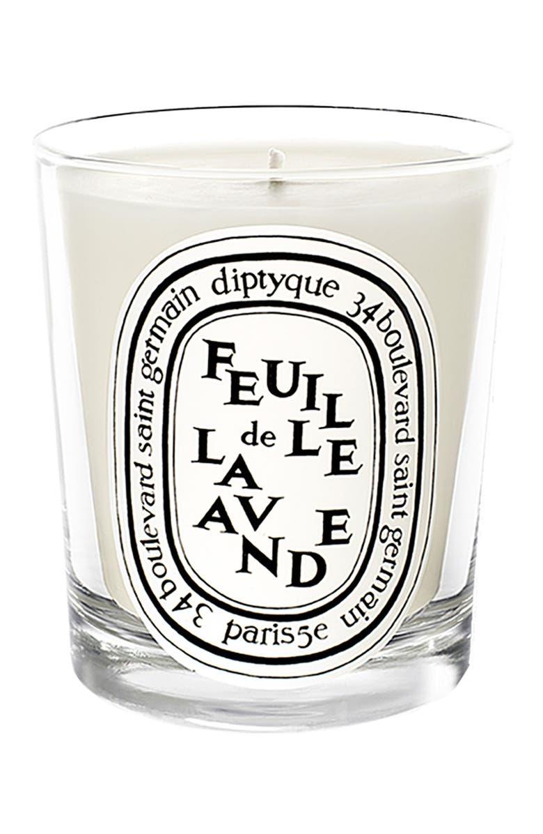 DIPTYQUE Feuille de Lavande/Lavender Leaf Scented Candle, Main, color, NO COLOR