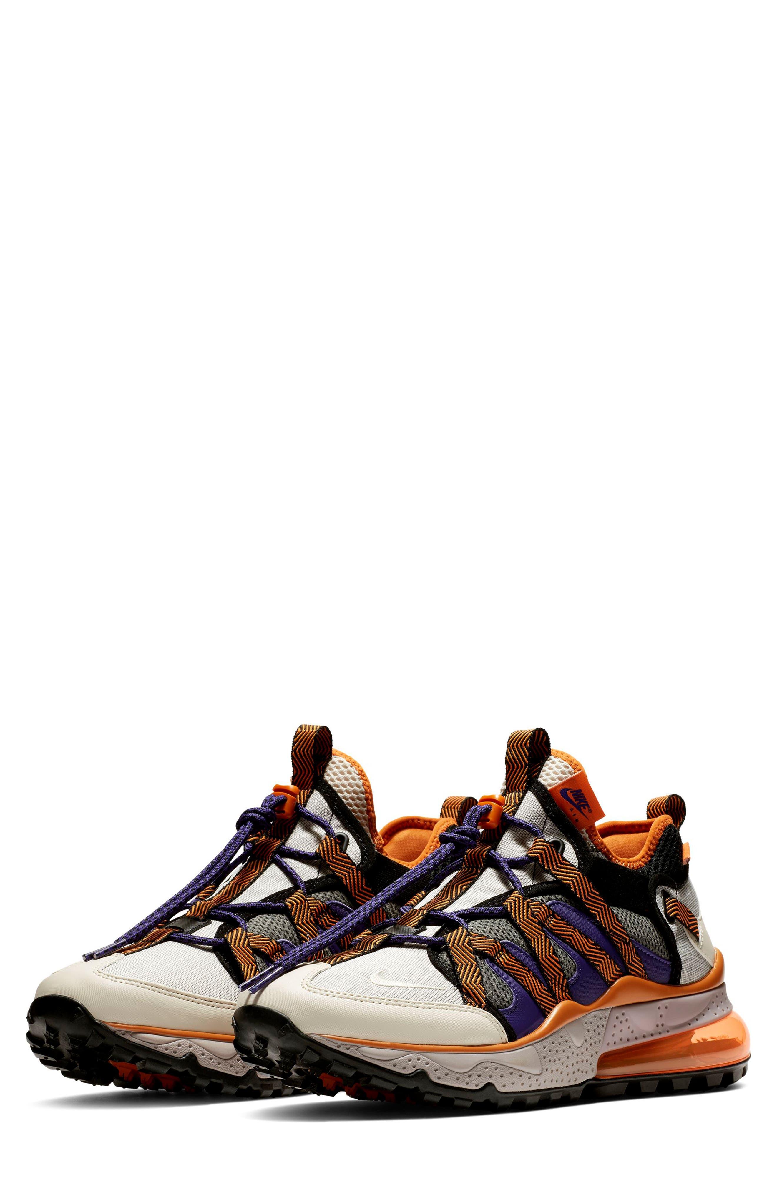 ,                             Air Max 270 Bowfin Sneaker,                             Main thumbnail 1, color,                             PUMICE/ BROWN/ CINDER ORANGE