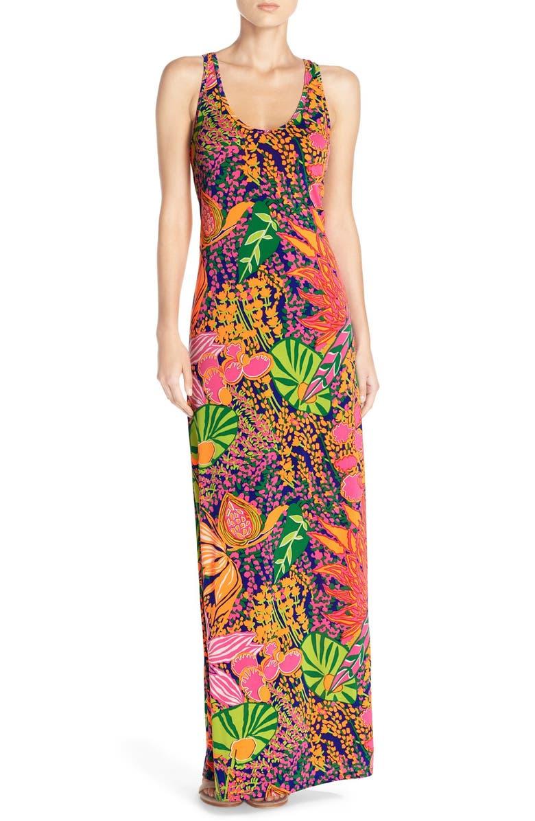 TRINA TURK trina Trina Turk 'Violina' Print Jersey Maxi Dress, Main, color, MULTI