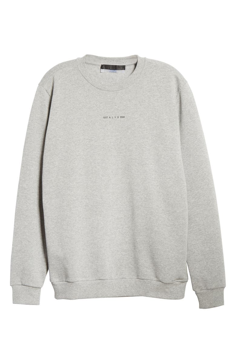1017 ALYX 9SM Crewneck Logo Sweatshirt, Main, color, GREY