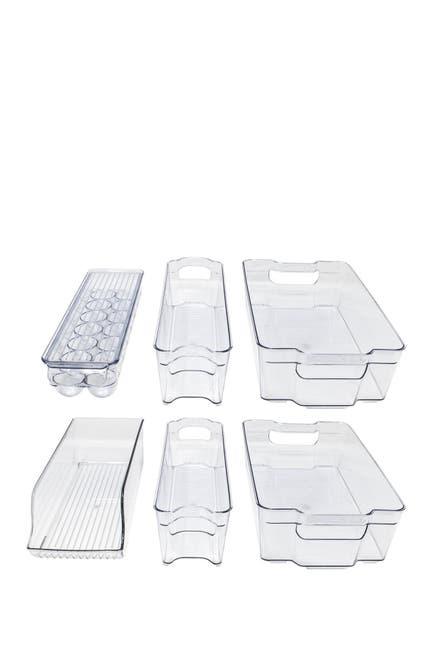 Image of Sorbus 6-Piece Refrigerator & Freezer Organizer Bins