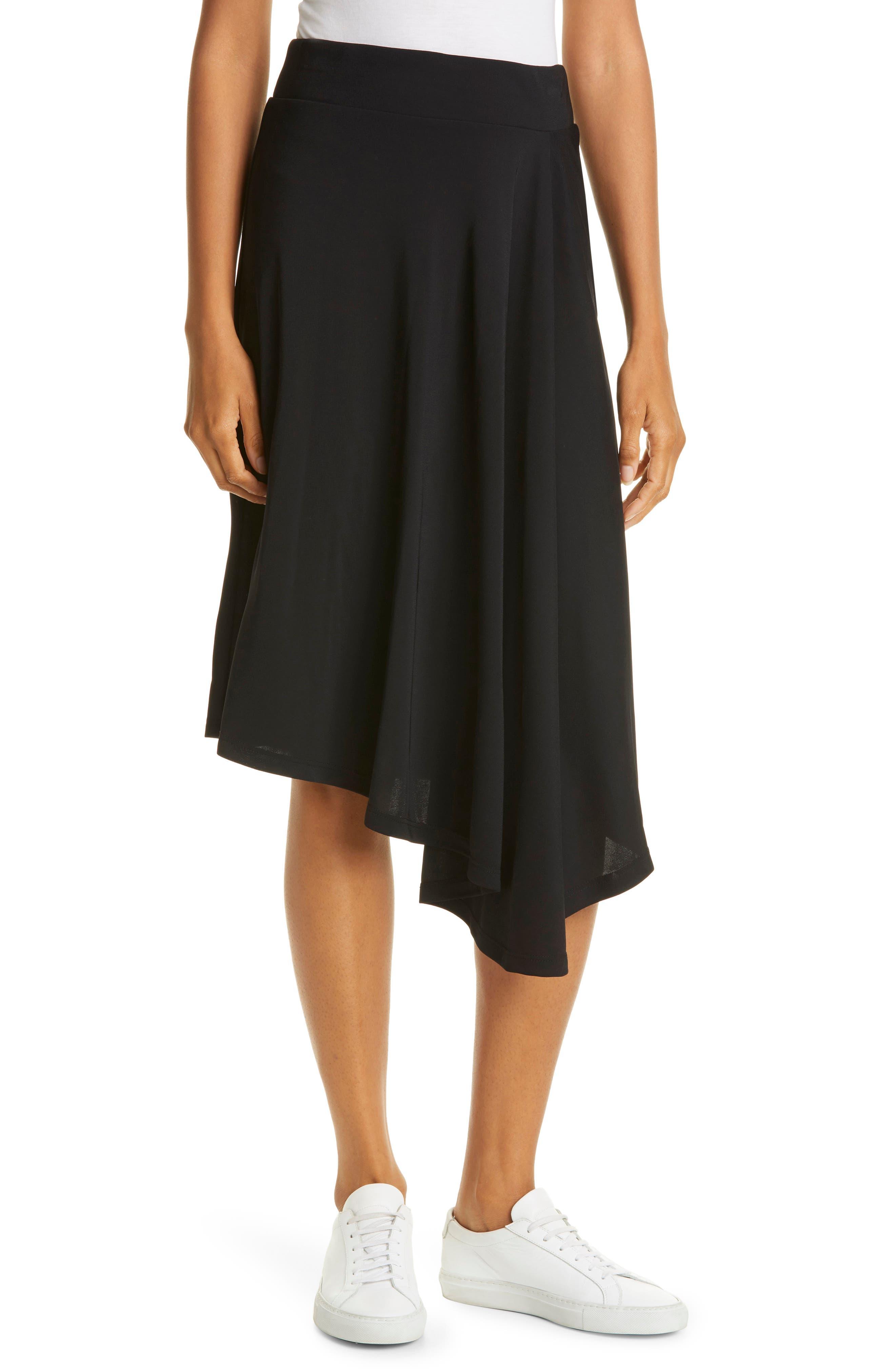 Cascade Asymmetric Knit Skirt