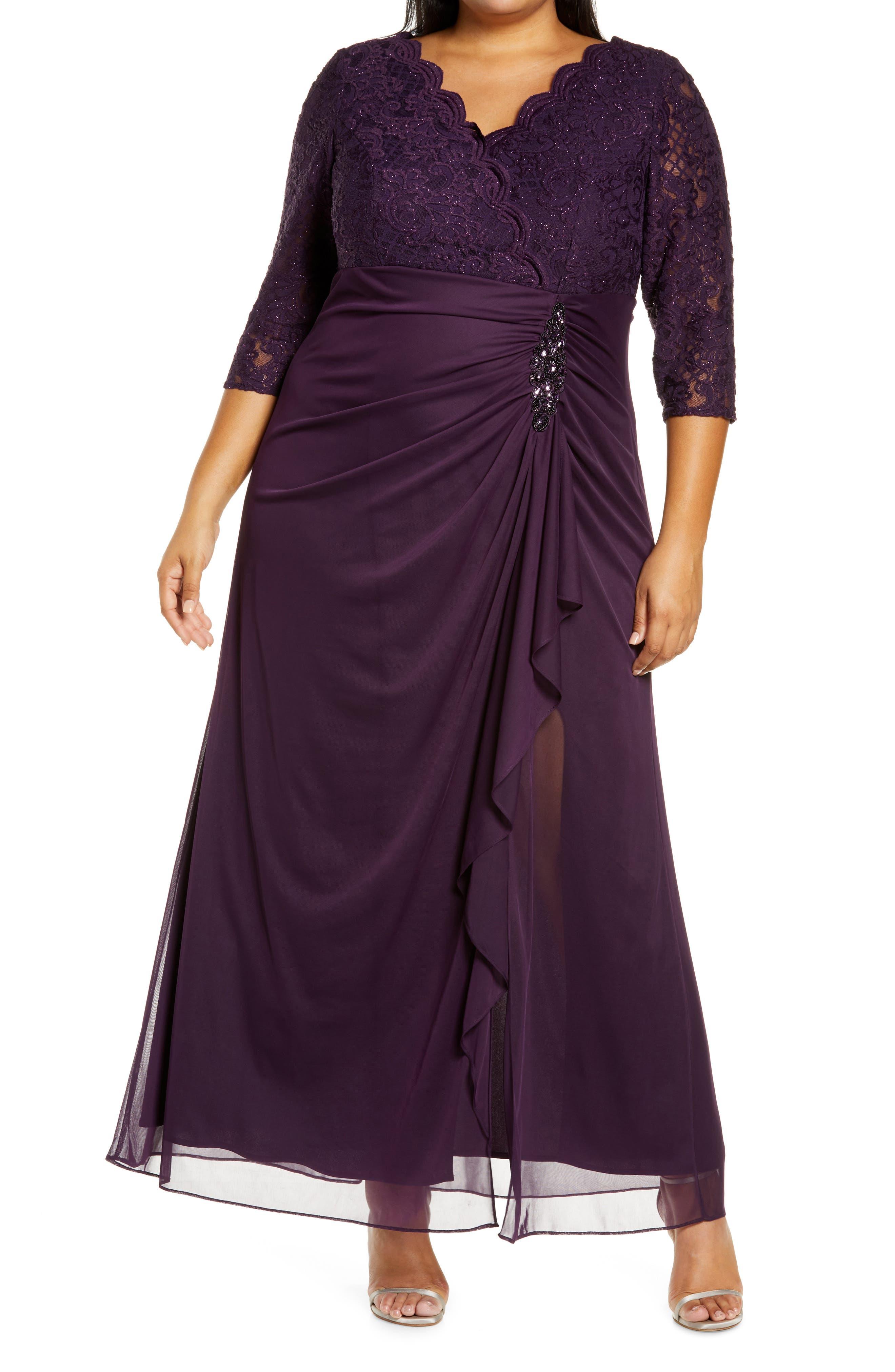 Beaded Lace Bodice Empire Waist Cocktail Dress