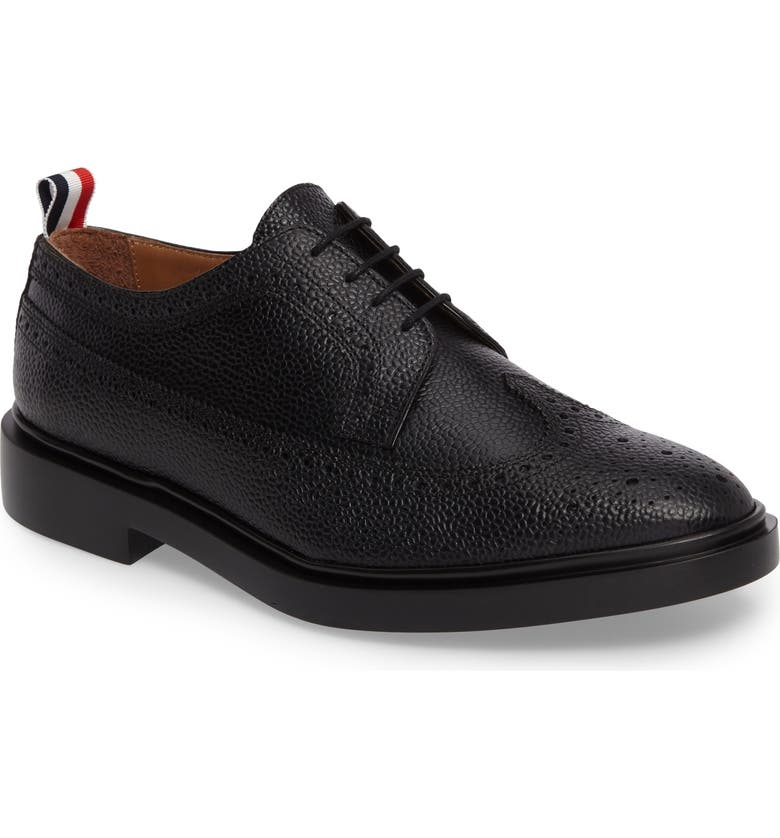 THOM BROWNE Longwing Derby, Main, color, BLACK LEATHER
