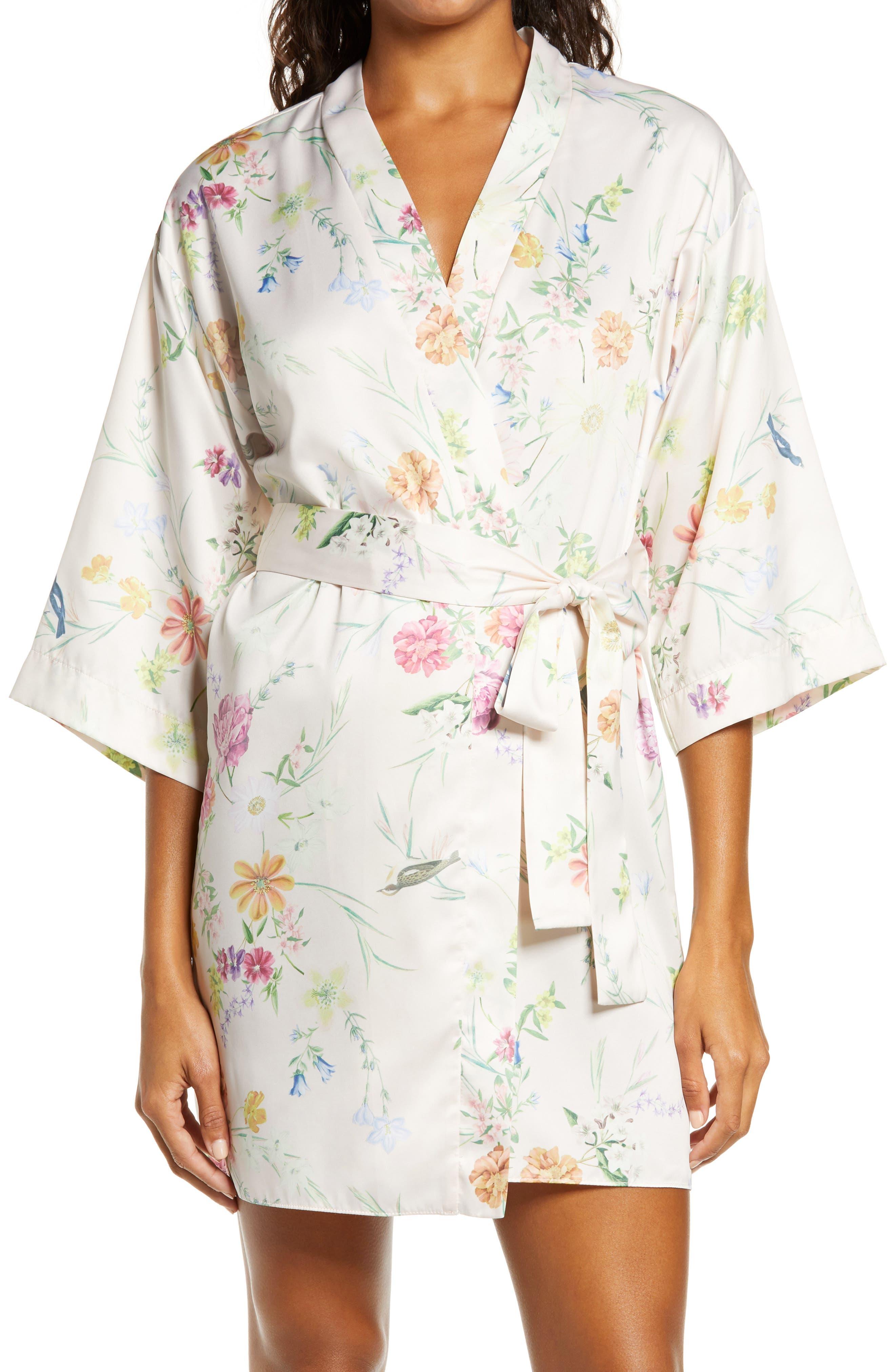 Flora Nikrooz Gabrielle Floral Print Short Robe | Nordstrom