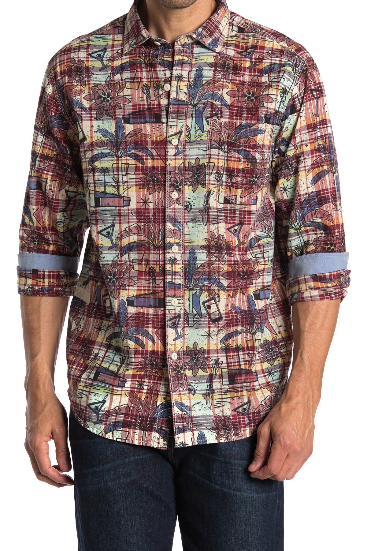 Image of Tommy Bahama Palm Springs Plaid Regular Fit Shirt
