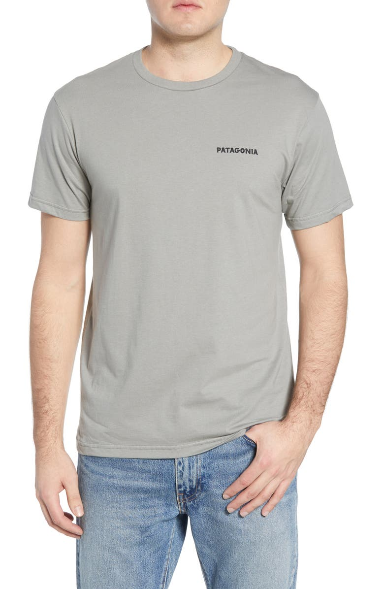 PATAGONIA Knobby Lines Graphic Organic Cotton T-Shirt, Main, color, FEATHER GREY