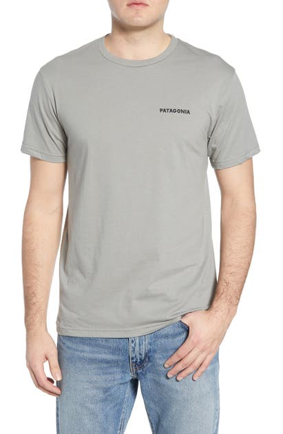 Patagonia Knobby Lines Graphic Organic Cotton T-Shirt In Feather Grey