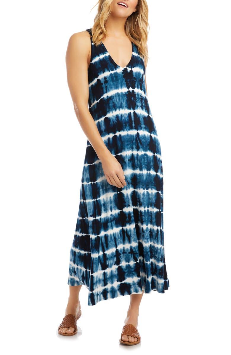 KAREN KANE Tie Dye Midi Tank Dress, Main, color, 400