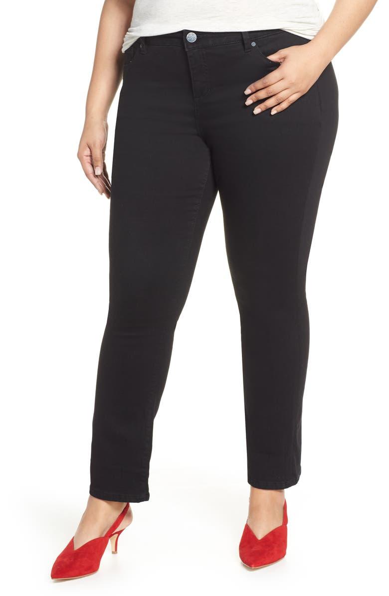 SLINK JEANS High Waist Bootcut Jeans, Main, color, BLACK