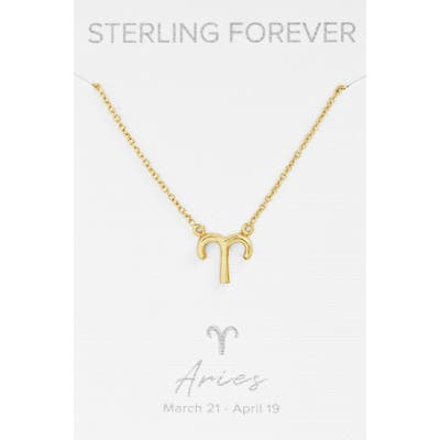 Sterling Forever Zodiac Pendant Necklace
