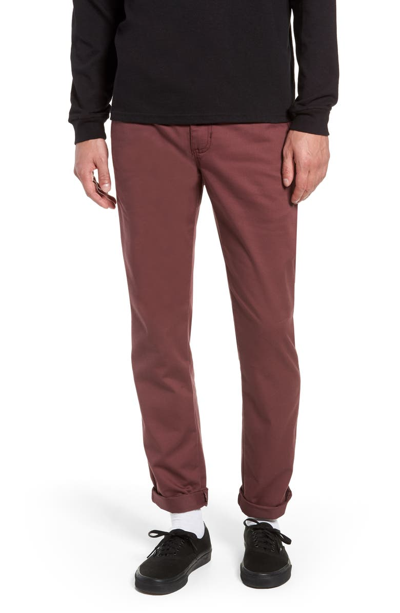 VANS Authentic Stretch Chino Straight Fit Pants, Main, color, 930