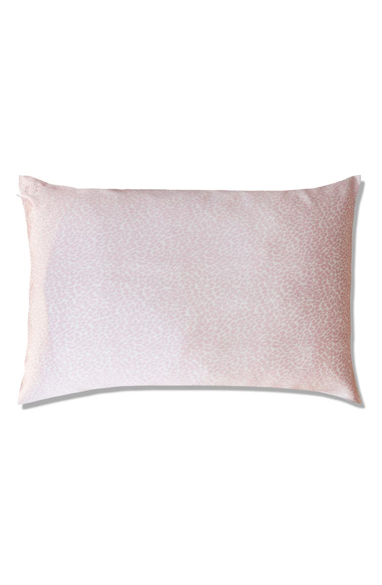 SLIP <sup>™</sup> for beauty sleep<sup>™</sup> Pink Leopard Pillowcase, Main, color, 000