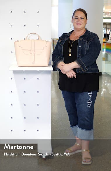 Maestra Pebbled Leather Satchel, sales video thumbnail