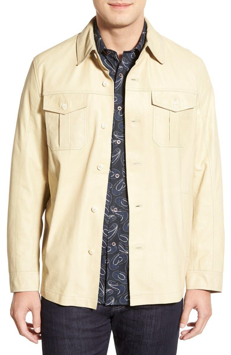 new concept 71411 3acf1 Missani Le Collezioni Leather Shirt Jacket | Nordstrom