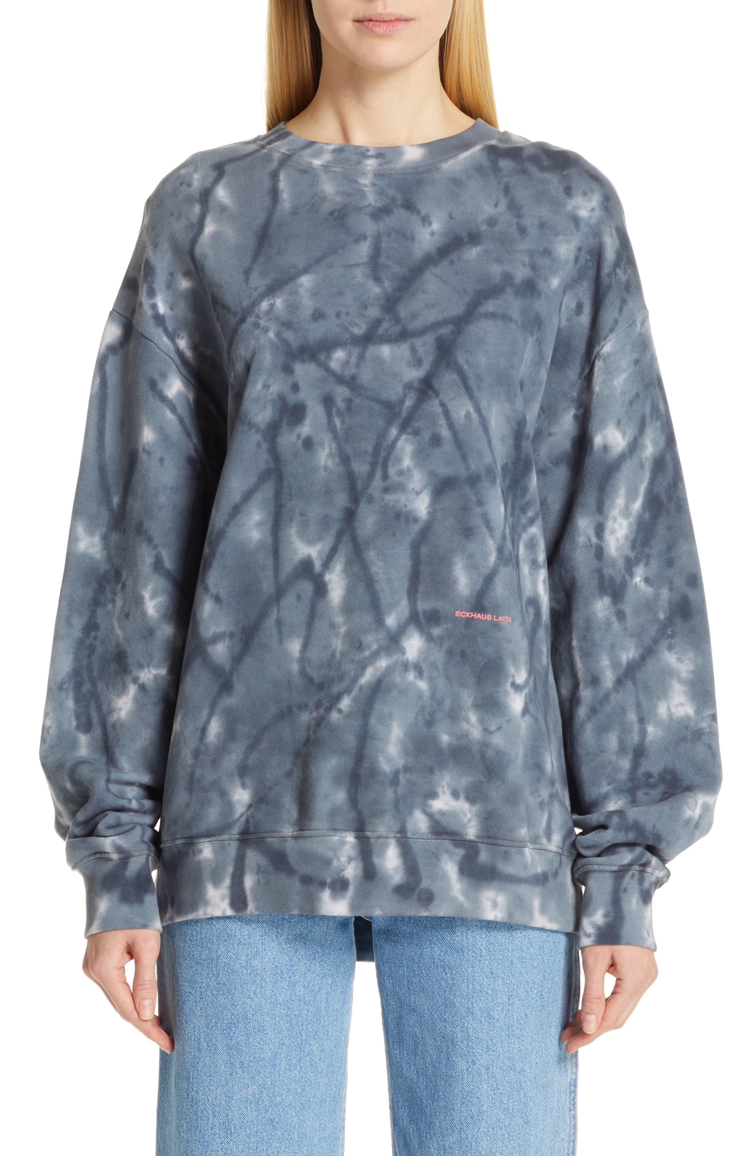 Eckhaus Latta Tie Dye Sweatshirt, Blue