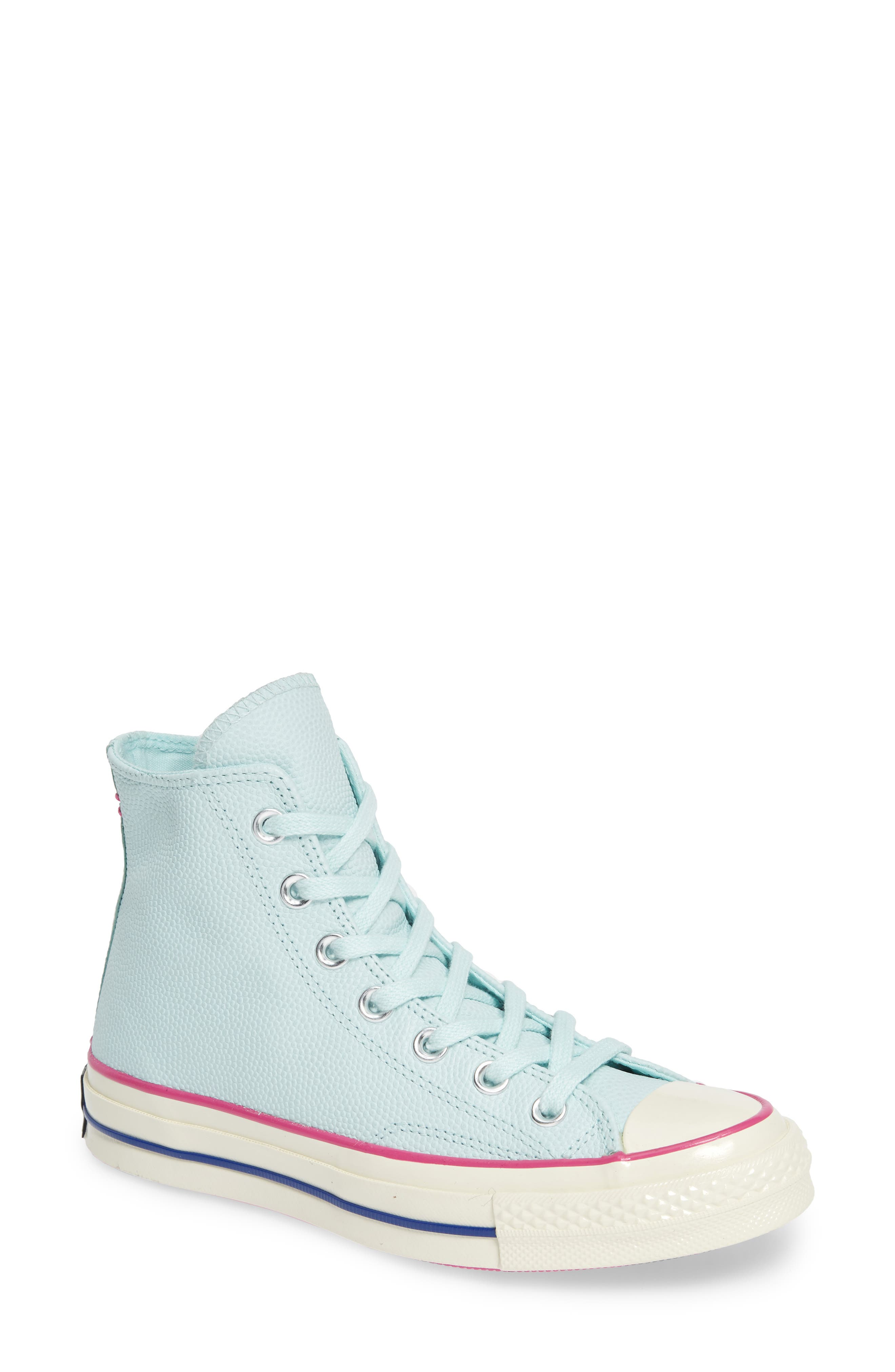 Converse Chuck Taylor All Star 70 High Top Leather Sneaker, Blue/green