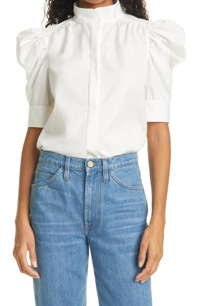Frame GILLIAN FUNNEL COLLAR BLOUSE