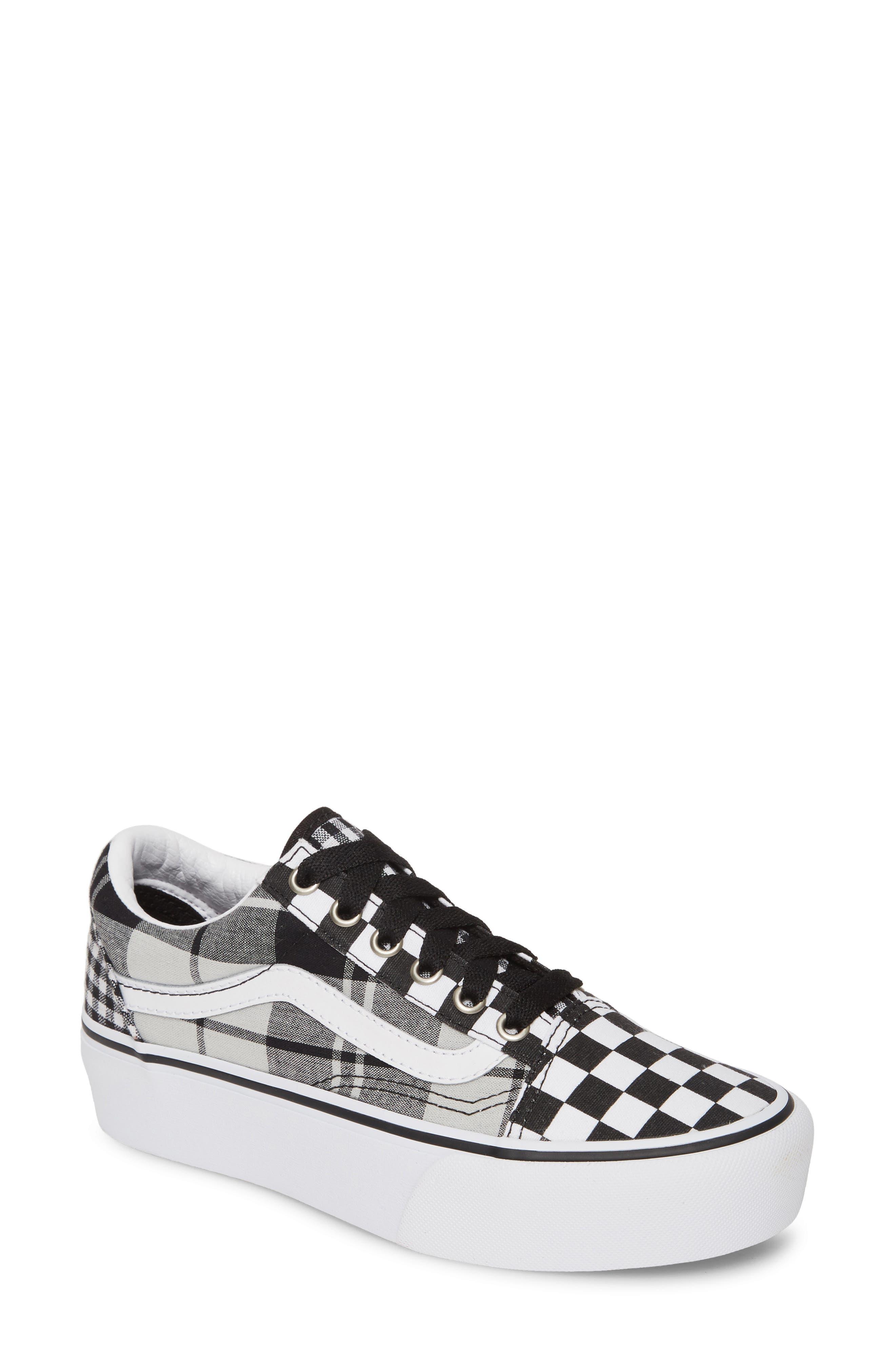 Vans Old Skool Platform Sneaker, Black
