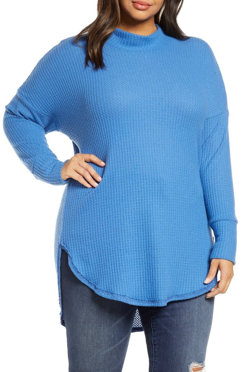 CASLON<SUP>®</SUP> Thermal Knit Tunic, Main, color, BLUE CHINA
