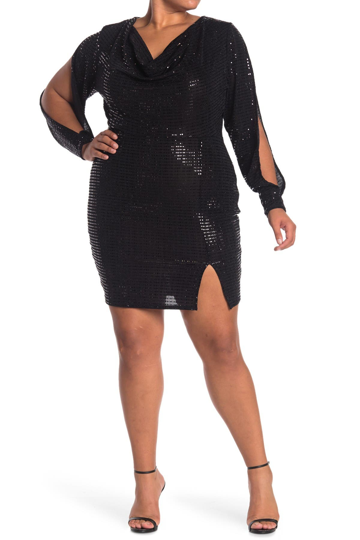 Curvy Sense Allie Cowl Neck Dress