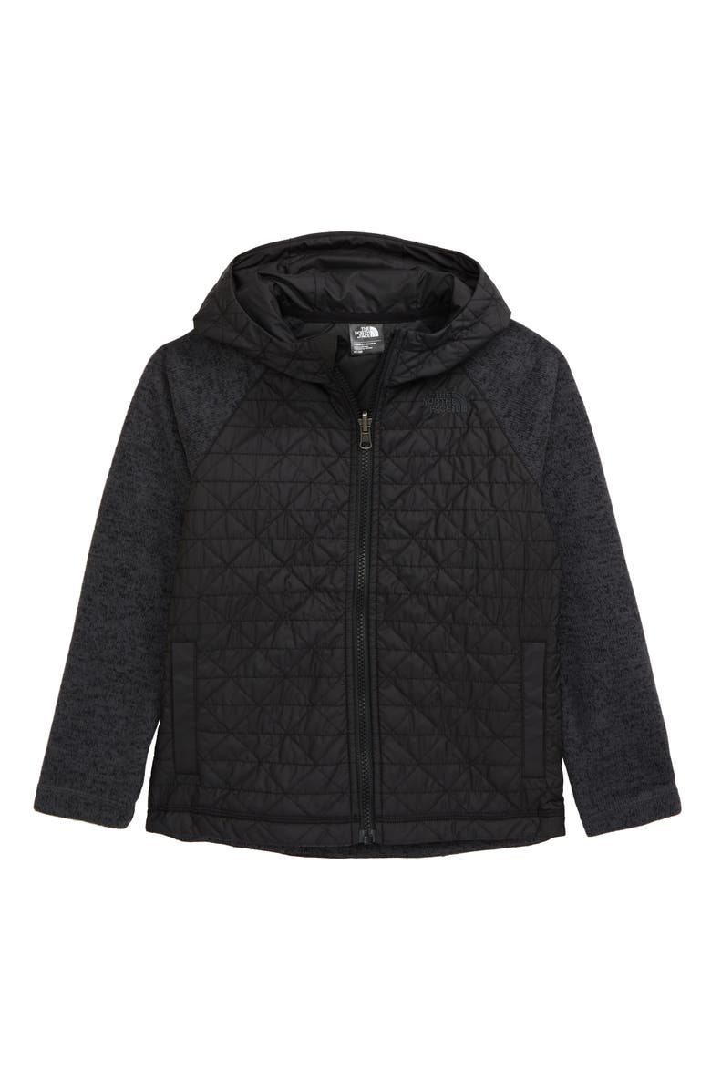 THE NORTH FACE Kids' Heatseeker<sup>™</sup> Water Repellent Hooded Jacket, Main, color, TNF BLACK