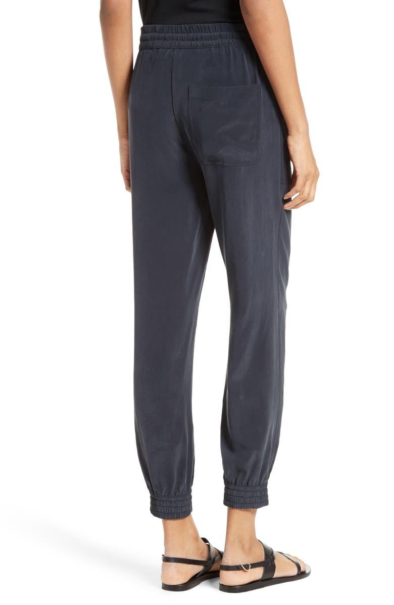 THEORY Cortlandt Silk Jogger Pants, Main, color, 199
