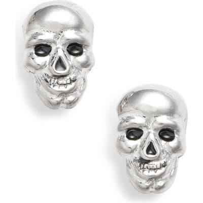 Erwin Pearl Skull Earrings