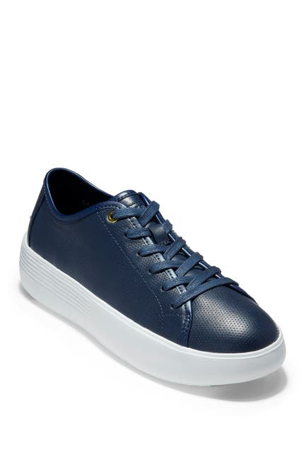 Image of Cole Haan Grand Crosscourt Flatform Lace-Up Sneaker