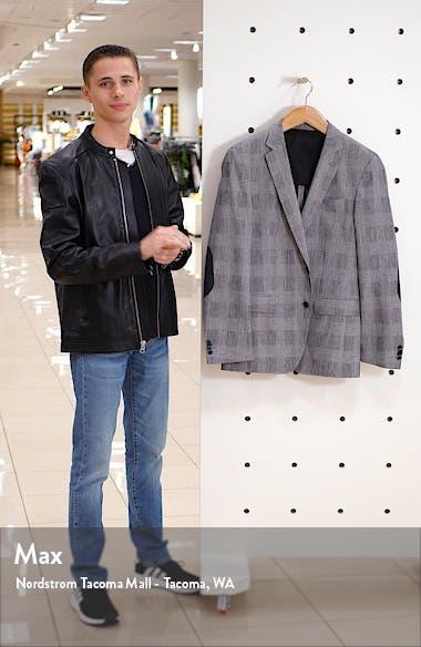 Halwon Trim Fit Plaid Stretch Cotton Blend Sport Coat, sales video thumbnail