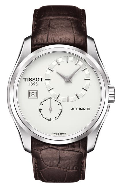 Image of Tissot Men's Couturier Automatic Leather Strap Watch, 39mm
