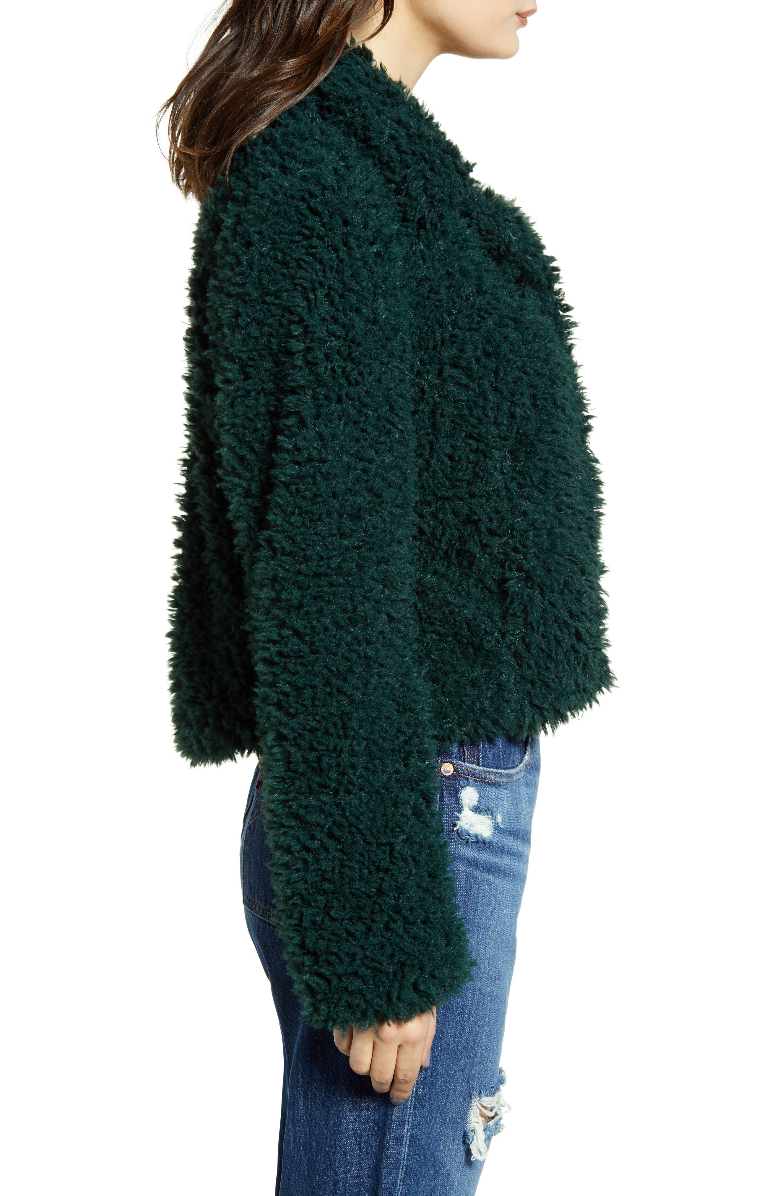 BLANKNYC Denim Faux Shearling Teddy Coat
