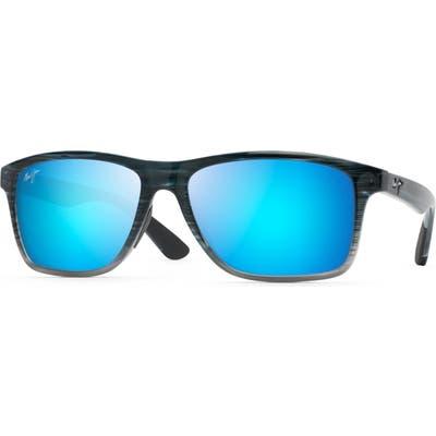 Maui Jim Onshore 5m Polarized Sunglasses - Blue Black Stripe