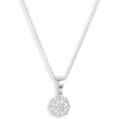 Bony Levy Mika Pave Diamond Circle Pendant Necklace (Nordstrom Exclusive)