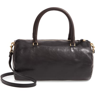 Clare V. Grande Pepe Leather Barrel Bag - Black