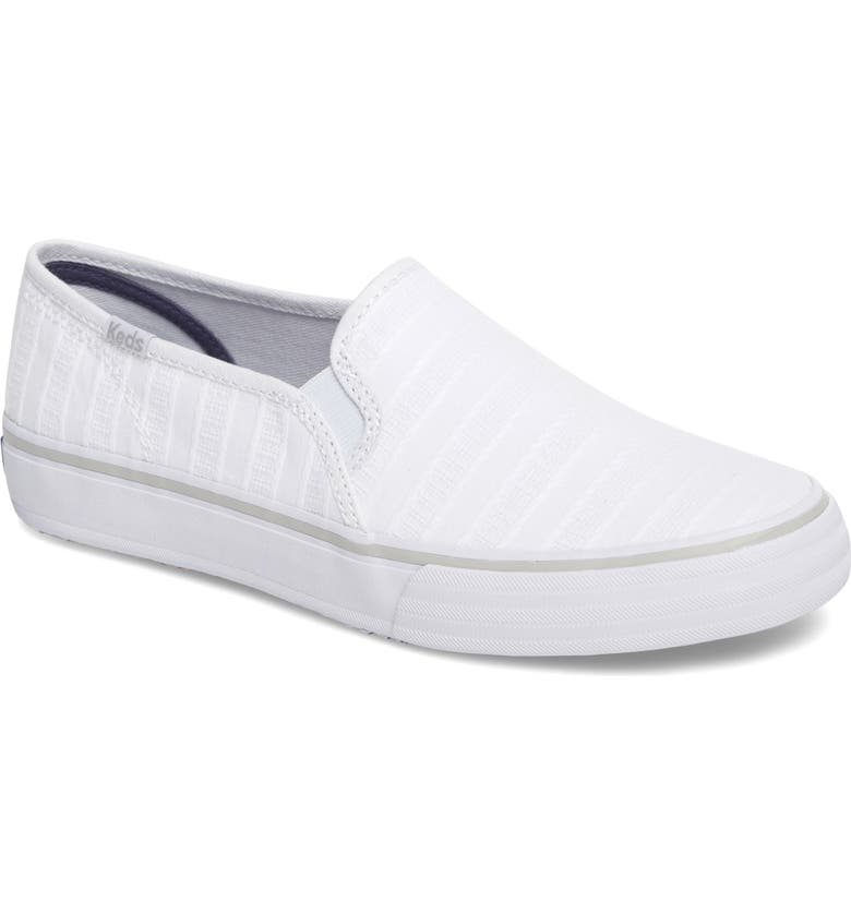 KEDS<SUP>®</SUP> Double Decker Slip-On Sneaker, Main, color, 100