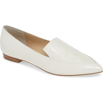 Marc Fisher Ltd Zurri Pointy Toe Loafer, Ivory