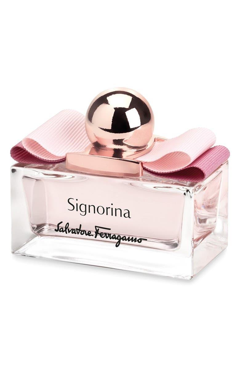 SALVATORE FERRAGAMO 'Signorina' Eau de Parfum, Main, color, 000
