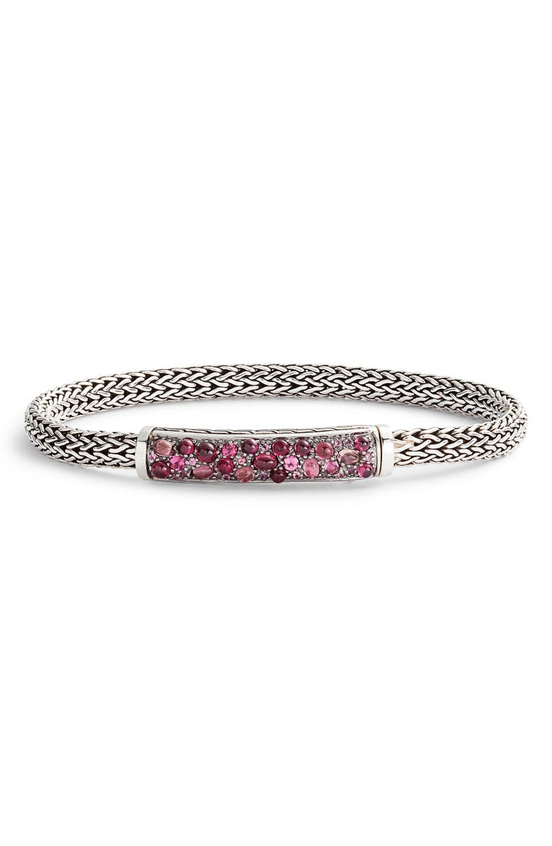 JOHN HARDY Classic Chain Lava 5mm Bracelet, Main, color, SPINEL/ TOURMALINE/ GARNET